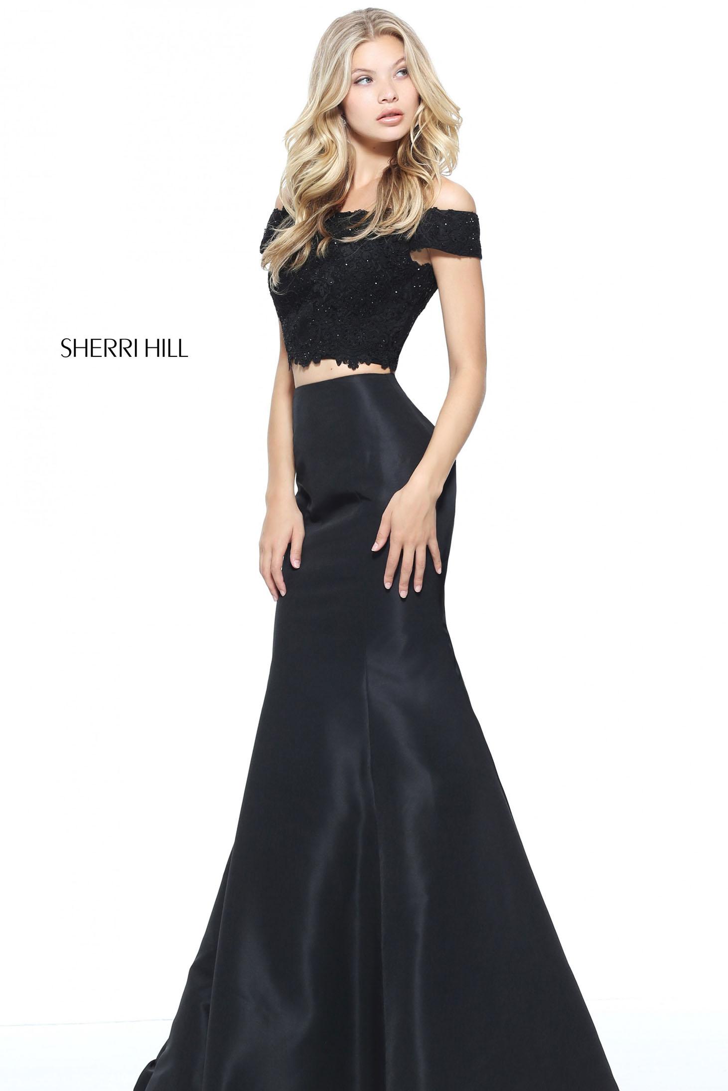 Rochie Sherri Hill 51157 Black
