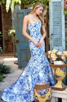 Sherri Hill 51198 Blue Dress