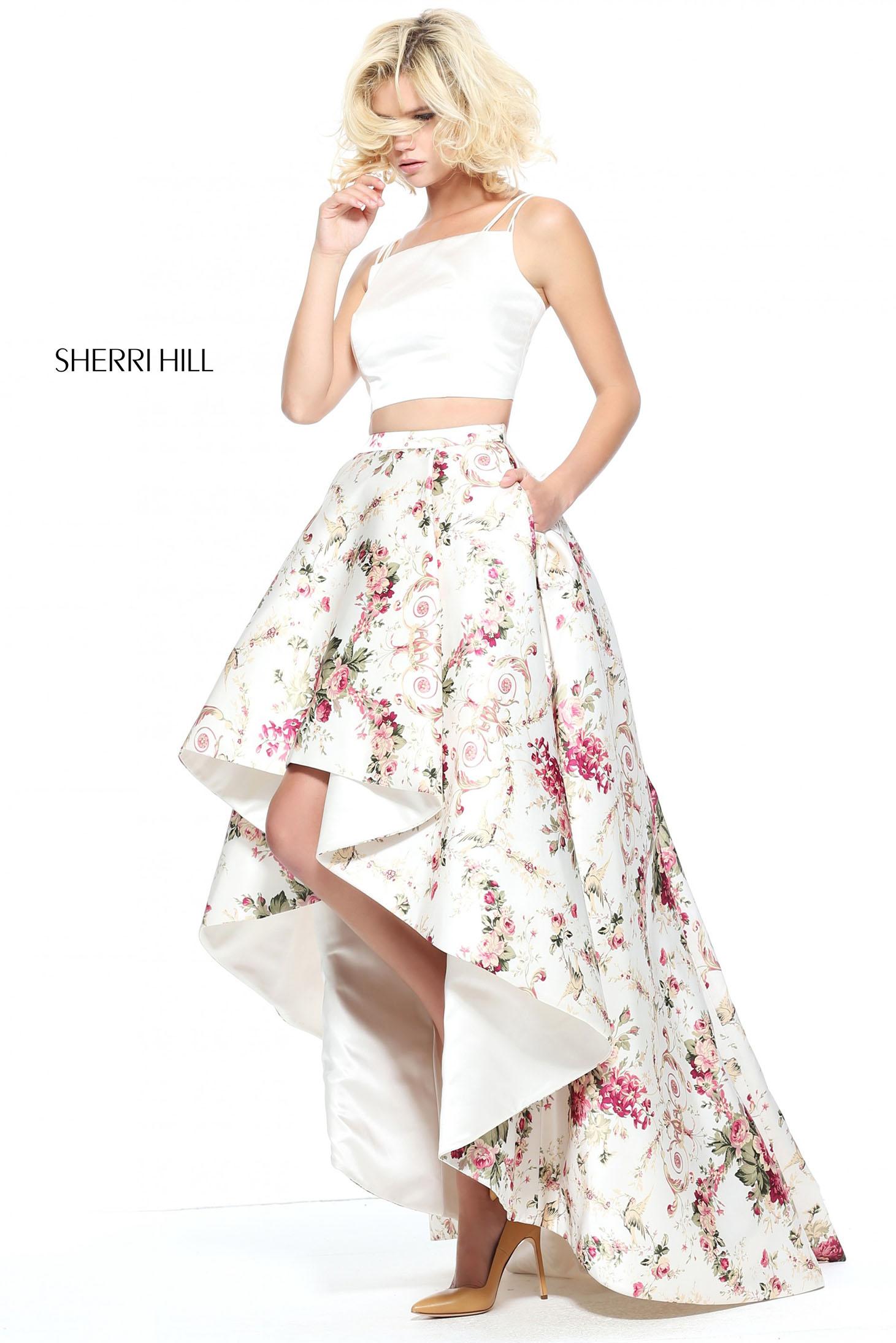 Rochie Sherri Hill 51205 White