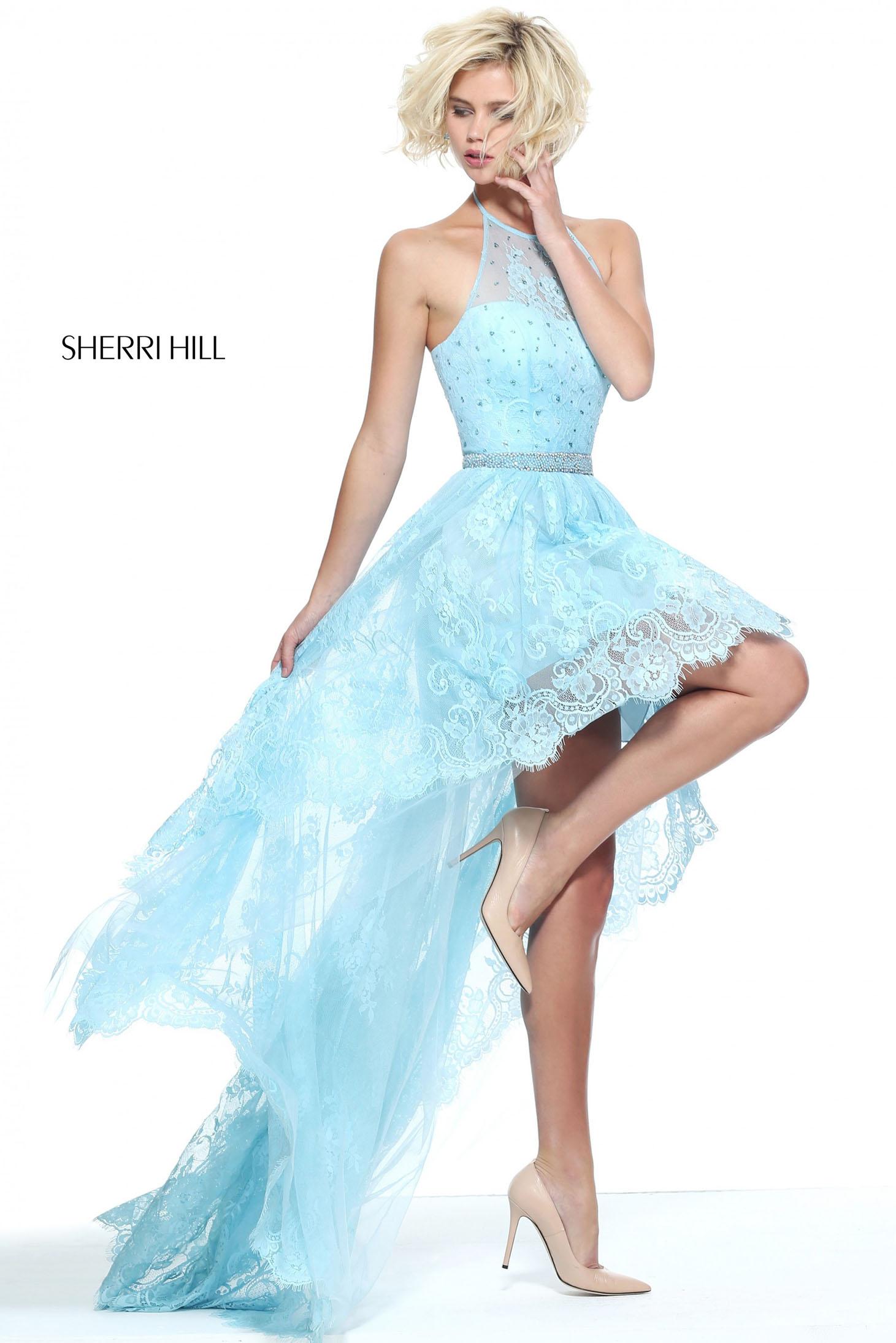 Rochie Sherri Hill 51226 LightBlue