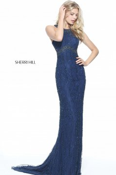 Sherri Hill 51241 DarkBlue Dress