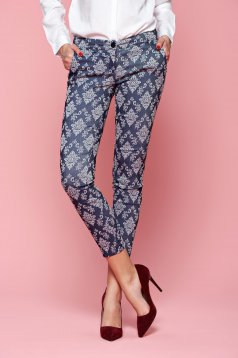 PrettyGirl Patterned DarkBlue Trousers