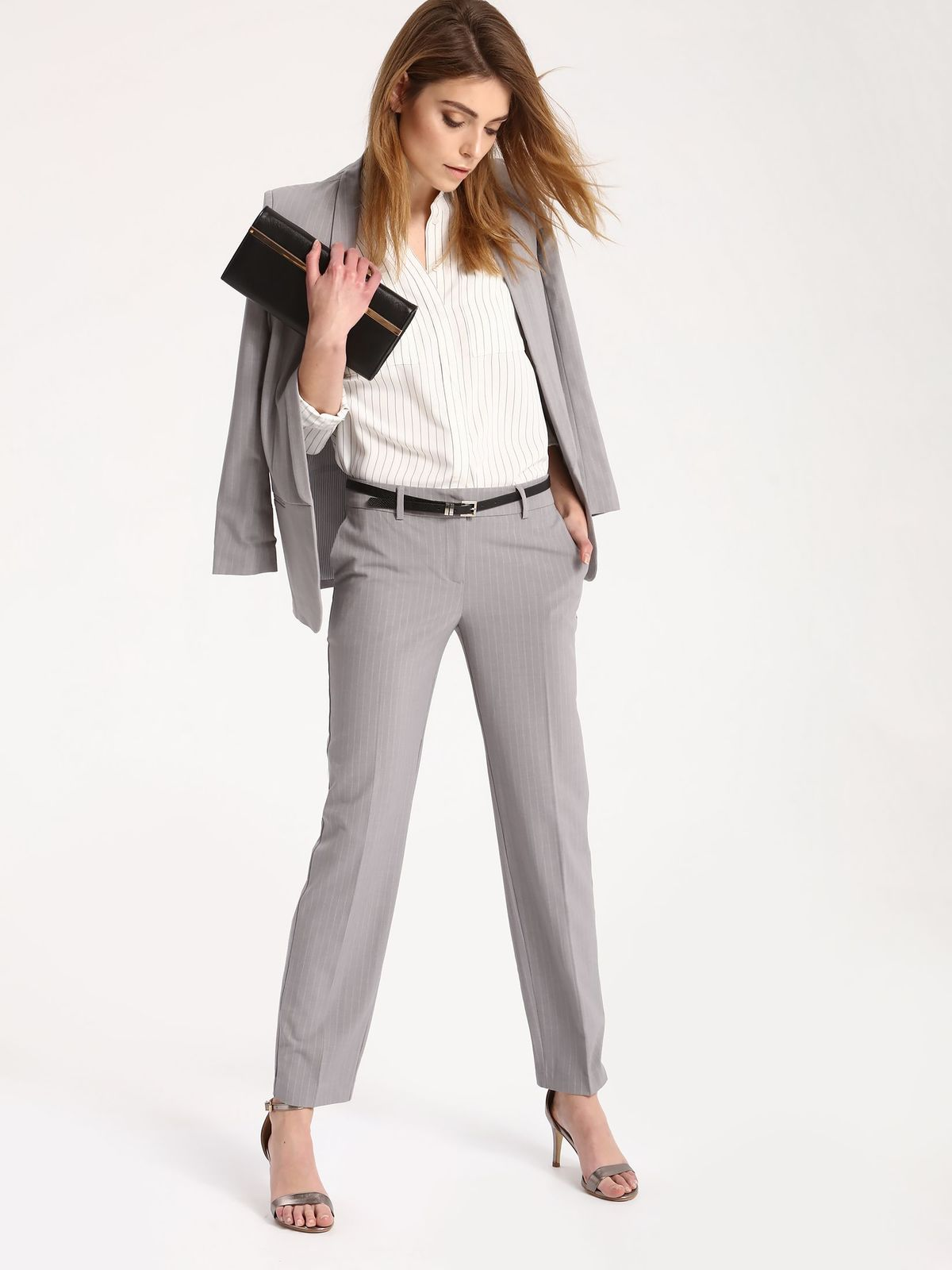 Pantaloni Top Secret S027478 LightGrey