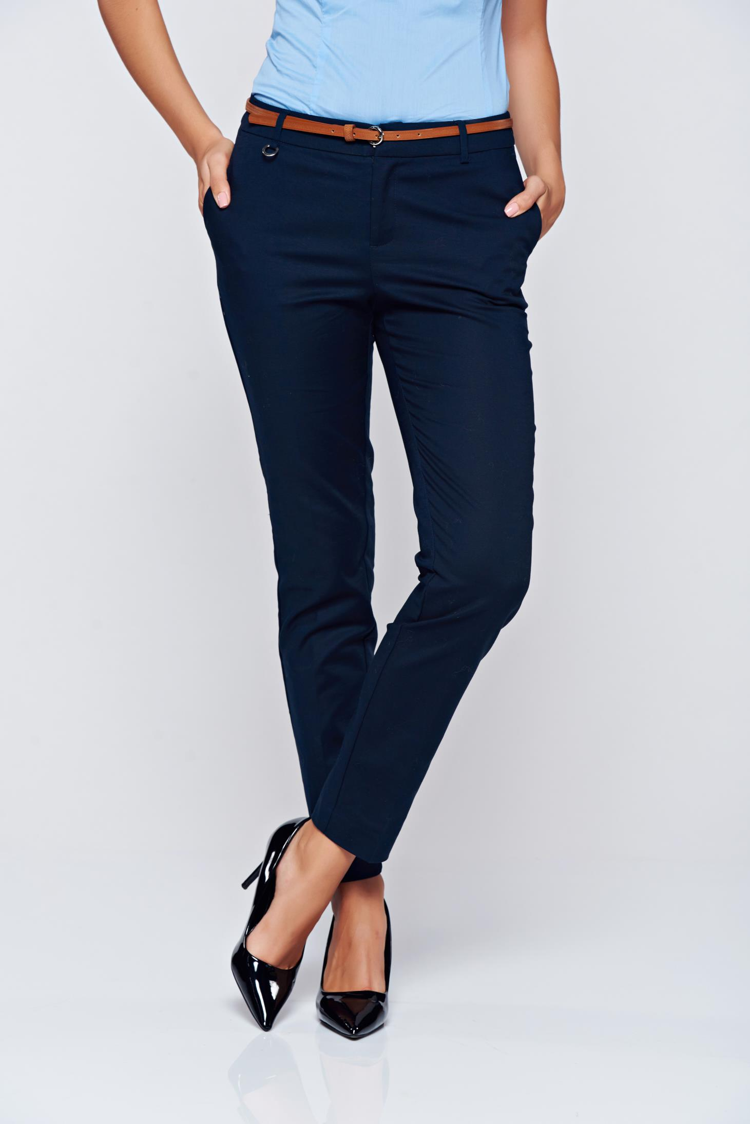 Top Secret office conical darkblue trousers with medium waist