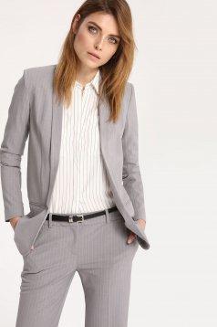 Top Secret office lightgrey long sleeve jacket with stripes