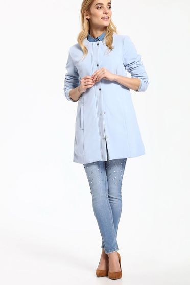 Top Secret blue trenchcoat casual long sleeve