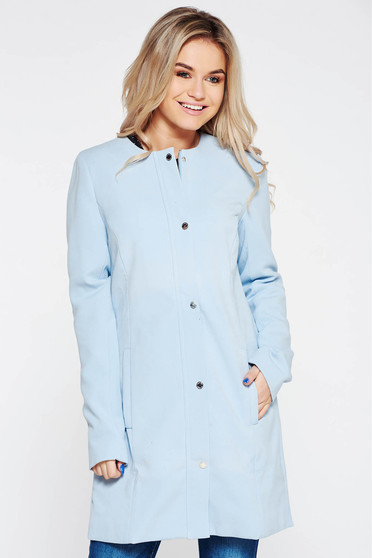 Top Secret blue casual trenchcoat long sleeves