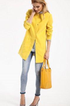 Top Secret yellow trenchcoat long sleeve casual