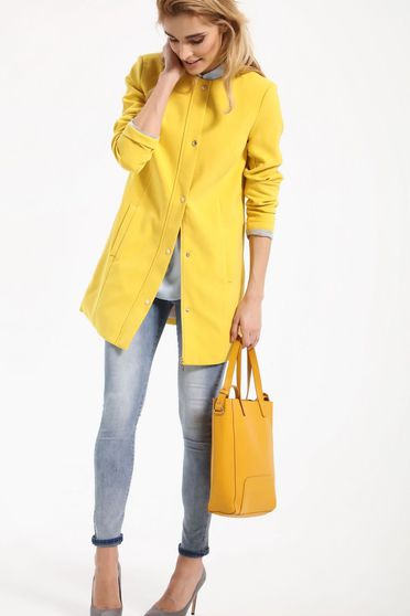 Top Secret yellow trenchcoat long sleeve casual