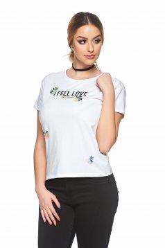 Best Feeling White T-Shirt