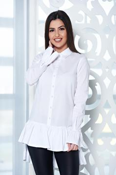 PrettyGirl Frilled Base White Shirt