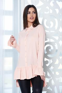 PrettyGirl Frilled Base Cream Shirt