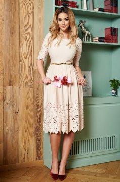 PrettyGirl Classic Cream Dress
