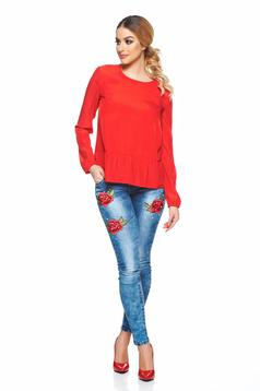 StarShinerS red casual women`s blouse