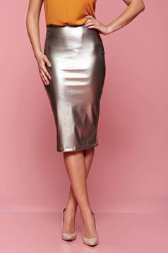 StarShinerS high waisted silver skirt