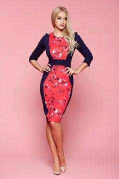 StarShinerS darkblue midi dress with floral print