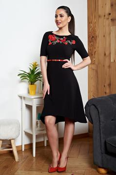 StarShinerS black dress manual sewed embroidery
