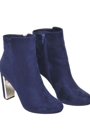 Top Secret darkblue square heel ankle boots with metalic accessory