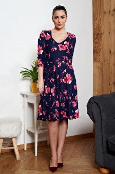 StarShinerS darkblue cloche dress with v-neckline