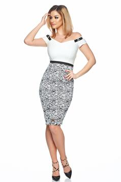 StarShinerS white occasional laced pencil dress