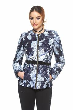 StarShinerS darkblue casual jacket with floral print