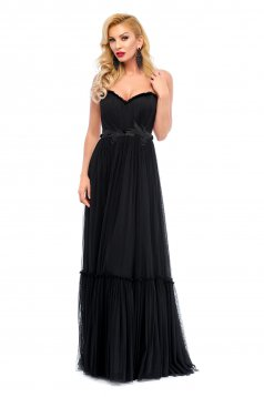 Ana Radu Statement Black Dress