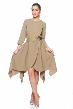 PrettyGirl Elegant Military Cream Dress