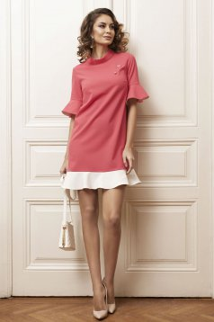 PrettyGirl Simple Smile Pink Dress