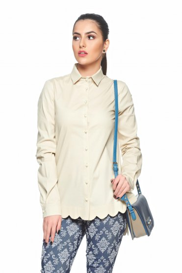 PrettyGirl Famous Touch Cream Shirt