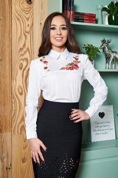 LaDonna Flourished Moment White Shirt