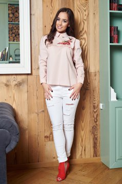 LaDonna Flourished Moment Cream Shirt