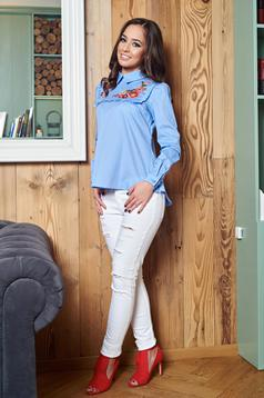 LaDonna Flourished Moment LightBlue Shirt