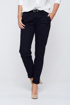 Top Secret black trousers office with medium waist flaring cut