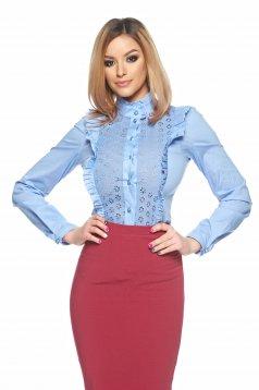Shirt LaDonna Majestic Line Babyblau