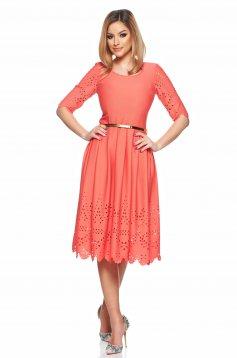 PrettyGirl Classic Coral Dress