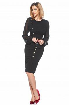 PrettyGirl Office Desire Black Dress