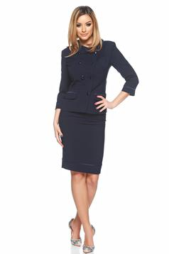 LaDonna darkblue office lady set with inside lining