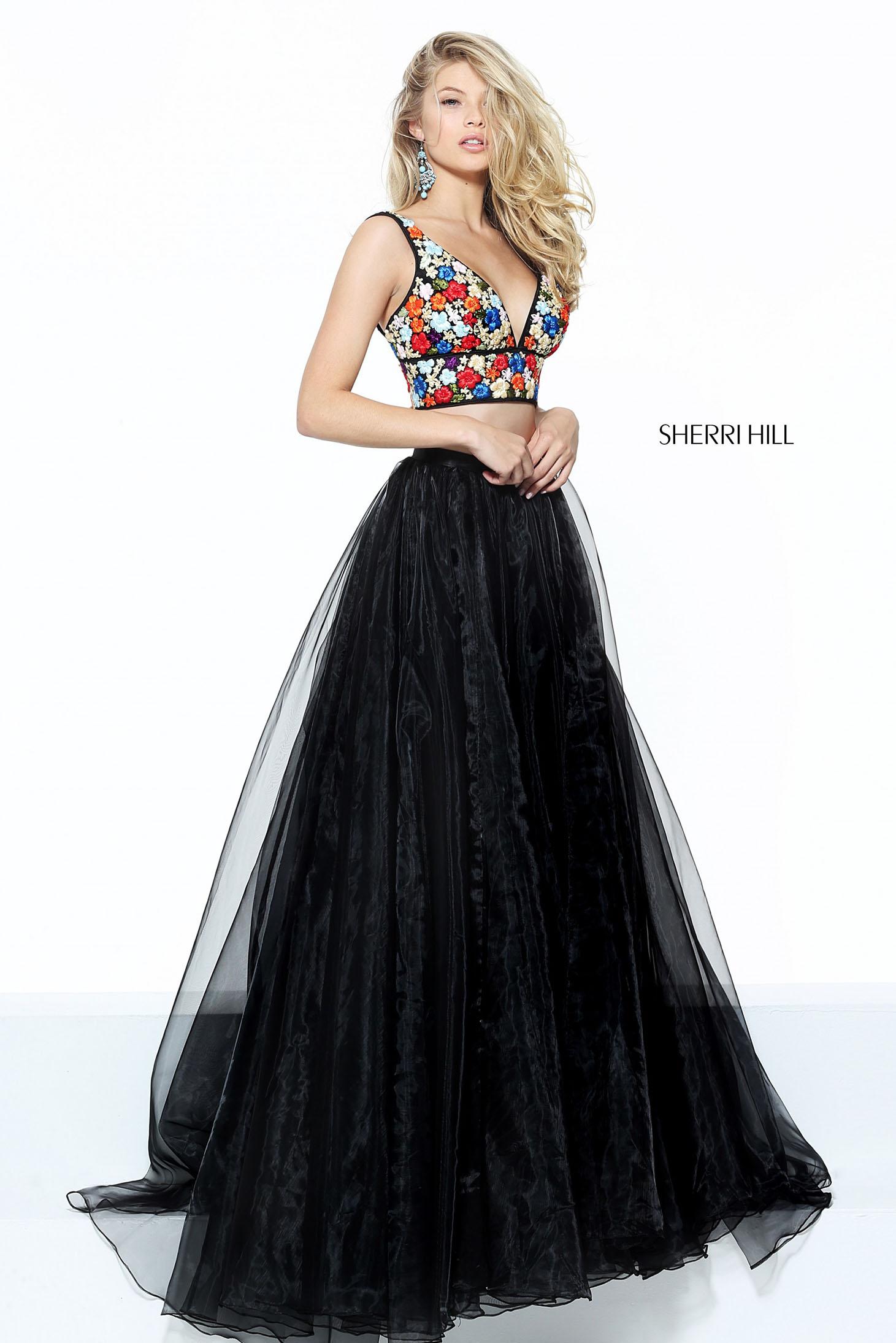 Rochie Sherri Hill 50948 Black
