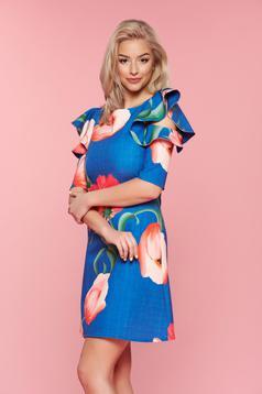 LaDonna Desire Floral Blue Dress