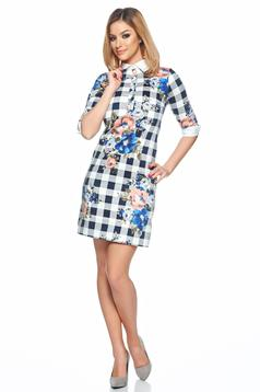 LaDonna Floral Print DarkBlue Dress