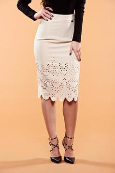 PrettyGirl Sensual Diva Cream Skirt