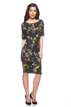 PrettyGirl Floral Joy Black Dress