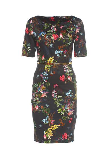 PrettyGirl Floral Joy Black Dress