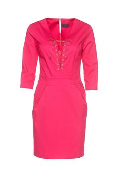 PrettyGirl Stylish Lady Pink Dress