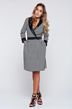 Artista black cloche dress with a cleavage with pockets