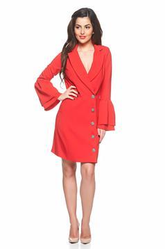 Artista Office Buttons Red Dress