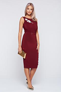 PrettyGirl brown dress pencil sleeveless