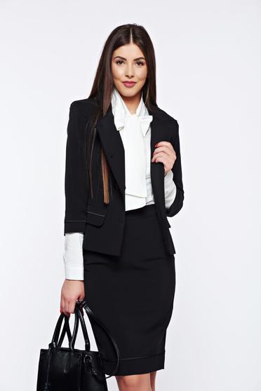 LaDonna black office lady set inside lining
