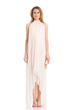 Daniella Cristea asymmetrical nude sleeveless bareback dress