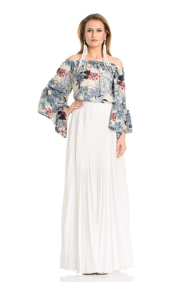 Daniella Cristea Plaited White Skirt